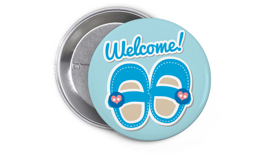 Welcome, baby shoes blue