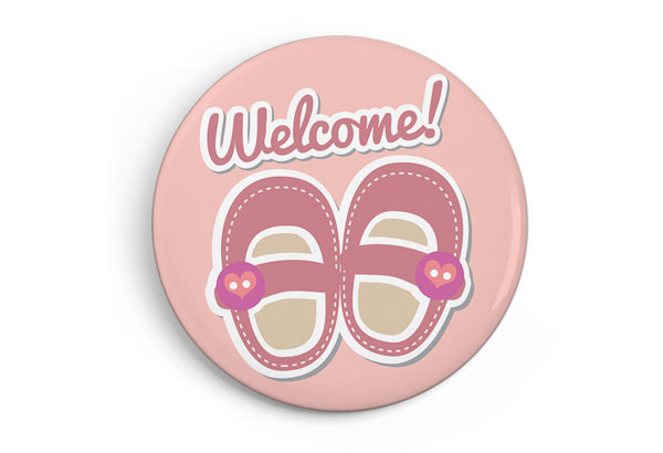 Welcome, baby shoes pink